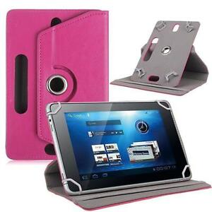 """Pink Flip Leather Folio Case Stand Box Cover For Android Asus Tablet 7"""" 8"""" 10.1"""""""