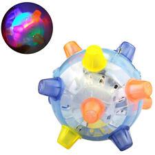 LED Jumping Flashing Joggle Ball Toys For Pets Dogs Joggle Vibrating Blue Color