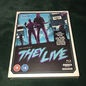 THEY LIVE 4K UHD/BLU-RAY/CD/LIMITED EDITION/NEW/SEALED