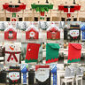 Xmas Santa Clause Red Hat Chair Back Cover Christmas Dinner Table Home DIY Decor