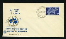 Australia, First Day Cover, Fdc, Royal Flying Doctor, Wcs Cachet , 1957