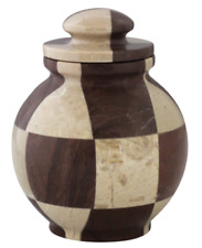 Small/Keepsake 25 Cubic Inch Triumph Cameo/Chocolate Marble Cremation Urn