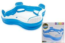 Intex Inflatable Swim Centre Family Lounge Large Paddling Swimming Seat Pool New