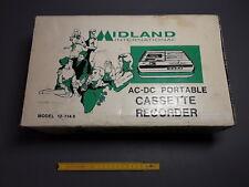 antico Lettore/registratore cassetta MIDLAND vintage ac dc portatile