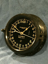 * Fully Restored* Wwii Us Navy 24hr. Chelsea Ship Clock Serial No. 394436