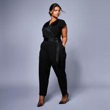 New COAST Carlo Black Tux Tuxedo Evening Jumpsuit Size 18 - 20 £109 Christmas