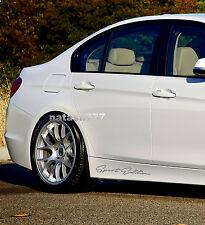 SPORT Edition Performance car skirt Decal sticker emblem logo SILVER (Fits: BMW