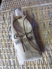 CROWN ROYAL whisky Hand Selected Barrel BAG ONLY burlap Leather lace cinch