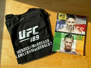 Conor McGregor UFC Champion UFC189 Program Programme and Shirt in XL - NEW