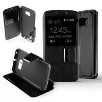 Housse Coque Étui Folio Fenêtre Samsung Galaxy S6 Edge