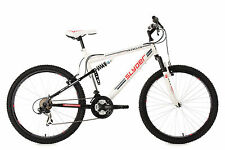 Mountainbike Fully 26 Zoll MTB 21-Gang Slyder Weiss RH 51 cm KS Cycling 520M