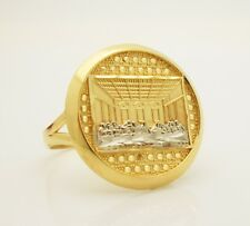 Men's 10K Yellow Gold Last Supper Ring Size 7 Pinky Ring