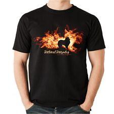 Unisex t-shirt Shetland Sheepdog fuego y llama by siviwonder perros motivo