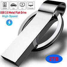 USB 3.0 2TB Metal Flash Drive Memory Stick Pen U Disk Key Chain Drive PC Laptop
