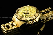 Invicta Mens 52mm Speedway Viper Chronograph 18K Gold Plated Bracelet SS Watch