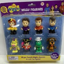 The Wiggles Wiggly Figurines 8 Pack. Emma Lachy Simon Anthony Wags Ect.