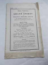 WW2  Programme of The Grand Sports @ Onllwyn Welfare Ground on 14th August 1943