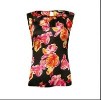 Tahari by Arthur Levine Sleeveless Floral Blouse, Size Small, New With Tags