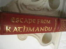Robinson, ESCAPE FROM KACHMANDU Easton Press 1st ED, SIGNED, Unread, Excellent