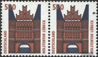 BRD (BR.Deutschland) 1938A waagerechtes Paar gestempelt 1997 Sehenswürdigkeiten