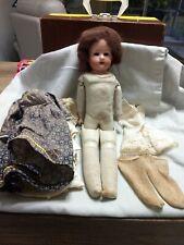 "17"" Antique German 2759/0 Bisque Shoulder Head Doll w Kid Body~ jointed legs"