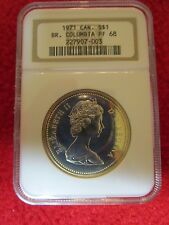 1971 Canada Silver $1 British Columbia NGC PF68