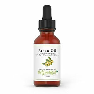 A Pure Argan Oil 100ml - 100% Cold Pressed Organic Moroccan Oil For Face Hair