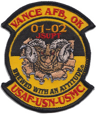 US Air Force Base Oklahoma 01-02 Embroidered Patch ** LAST FEW **