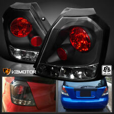 Black 2004-2008 Aveo Hatchback Rear Tail Brake Lights Lamps Replacement Pair