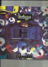 RENAULT TWINGO SALES BROCHURE AUGUST 1994 FRENCH  LANGUAGE