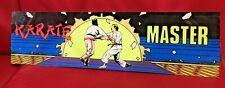 Original KARATE MASTER Data East Plexiglass Header Marquee Coin Op Video Arcade