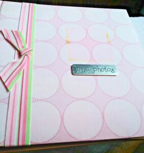 Baby's First Photo Album Pink 4x6 Photos Baby Shower  gift 200 photos