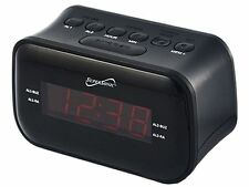 Supersonic Bluetooth Dual LED Alarm Clock AM/FM Radio Snooze Sleep Timer