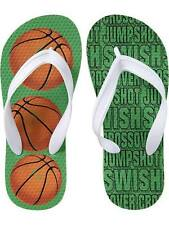 Old Navy Kids' Flip Flop Green Basketball Size 3/4 (for 7-8 years old)