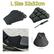 1X Black Motorcycle Seat Cushion Airbag Inflatable Mat Breathable L Size 32x32cm