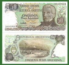 Argentina P314a. 50 Pesos, San Martin / Termes de Reye rapids, Jujuy,1983 AU