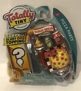 Totally Tiny PIZZA PARTY 9 Piece Mini Food Set Including Surprise Slimy Ooze