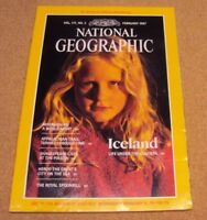 National Geographic February 1987 Iceland Madagascar Appalachian Herod Spoonbill