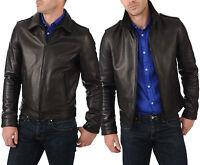 ★Giacca Giubbotto Uomo in di PELLE 100% Men Leather Jacket Veste Homme Cuir R82c