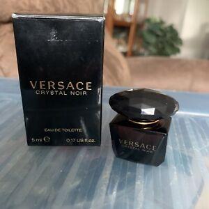 VERSACE Crystal Noir Eau de Toilette .17 oz 5 ml NIOB