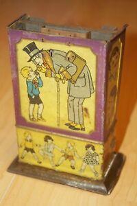 Antiker Blech Schokoladen Zigaretten Automat Sparautomat nicht ganz komplett