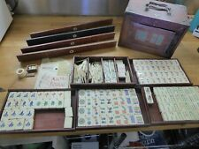 Vintage 1920's Mah Jong set with period book , see details for full info.