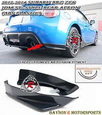 ST-Style Rear Lip Aprons (ABS) Fits 12-17 Subaru BRZ