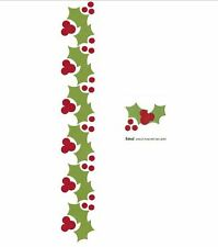 Lifestyle Crafts QuicKutz Border Punch Die Set HOLLY PUNCHES  Berries -DC0385