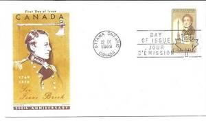 Canada 501 Sir Isaac Brock, Jackson FDC
