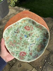 A rare early 19th century Chinese Celadon Glaze canton dish