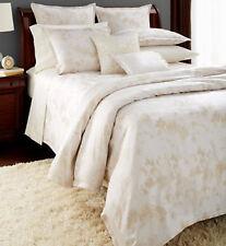 Sferra Lumia Queen Duvet Cover White/Ivory Egyptian Cotton Sateen Jacquard New
