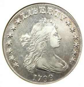 1799 Draped Bust Silver Dollar $1 Coin - Certified ANACS XF Details / Net VF30