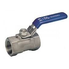 "3/4"" BSPP REDUCED BORE BALL VALVE 1000PSI 316 STAINLESS STEEL"