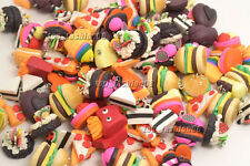 FREE Wholesale 50pcs Mixed Food hamburger Fimo polymer clay bead Pendant Jewelry